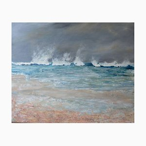 White Water, Contemporary Seascape Oil Painting, 2017