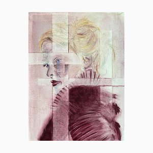 Layers of Separation # 1 # 2, Contemporary Figurative Watercolor, 2020