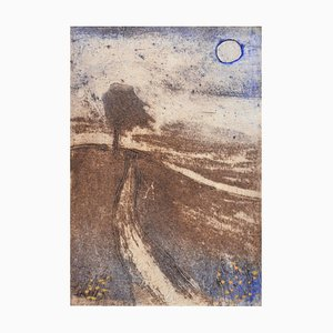 Lonely Road, Contemporary Limited Edition Etching, 2017