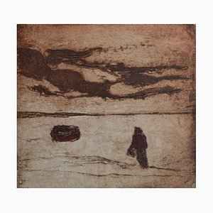 Mounts Bay Mood, Contemporary Limited Edition Etching, 2012