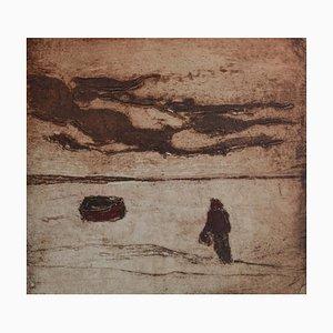 Mounts Bay Mood, Contemporary Limitierte Auflage Radierung, 2012