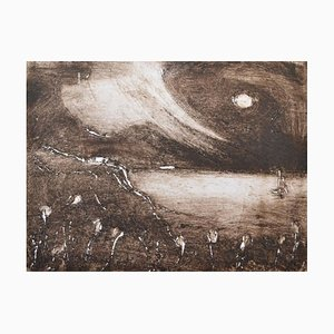 Sepia Seascape, Limited Edition Etching, 2014