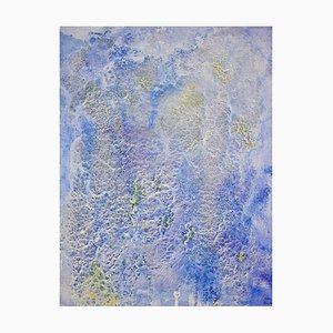 Taoistische Landschaft, Berge und Nebel, Contemporary Abstract Oil Painting, 2018