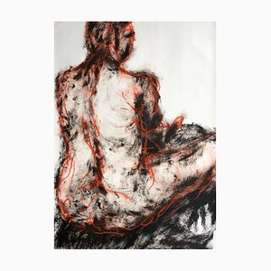 Seated Man. Contemporary Mixed Media on Paper 2019