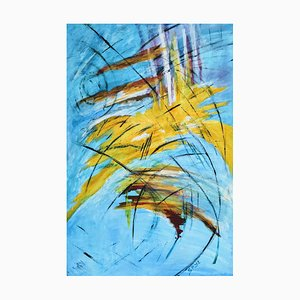 Reeds Sun and Water, Contemporary Impressionist Painting, 2019