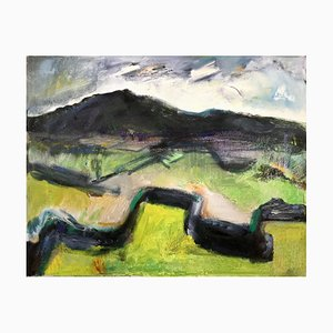 Walled Landscape, Contemporary Welsh Abstract Expressionist Landscape Painting, 2020
