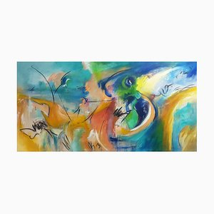Music of Colours, Contemporary Abstract Painting, 2020
