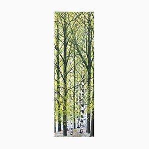Spring Birches, Contemporary Landscape Ölgemälde, 2020