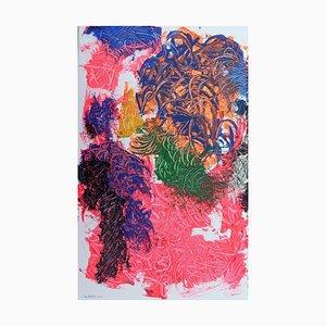 Cascada, pintura al óleo surrealista contemporánea, 2020