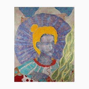 Angelo della pace, pittura figurativa contemporanea, 2020