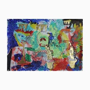 The Down Crown Crew, Contemporary Neo-Expressionist Figurative Painting, 2020