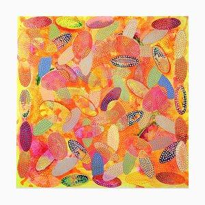 Flüstern und Geheimnisse, Contemporary Abstract Painting, 2020