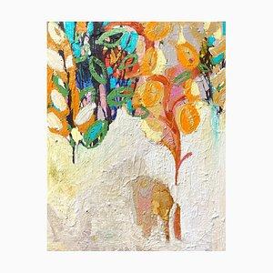 I Desperté y vi un elefante, pintura al óleo abstracta expresionista contemporánea, 2020