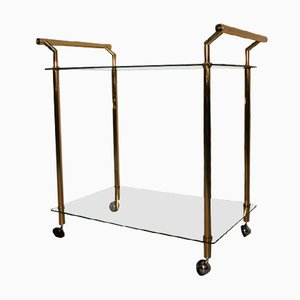 Gold & Glass Bar Cart, 1970s