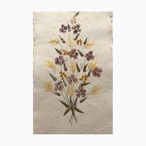 Madagassische Getrocknete Blumen auf Handgemachtem Papier