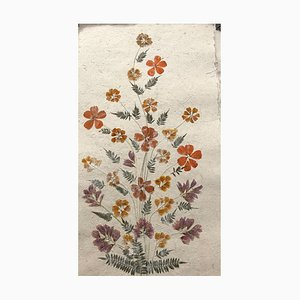Madagascan Dried Flowers on Hand Made Paper