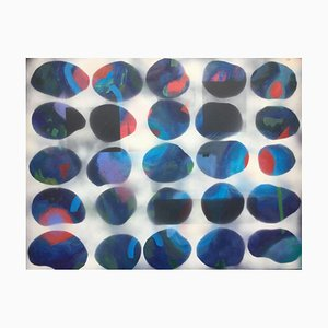 Blue Variant, Contemporary Abstract Mixed Painting, 2018