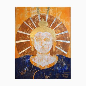 Tathagata, Contemporary Mixed Media Buddha Painting, Sax Berlin, 2016