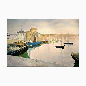 Tranquil Harbour, Contemporary Ölgemälde von David Williams