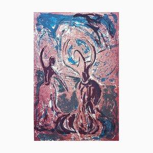 Dancers 12, Contemporary Figurative Monoprint, 2016