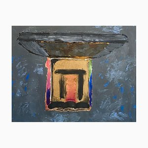 Old Place, Contemporary Mixed Media Abstract Painting, 1988