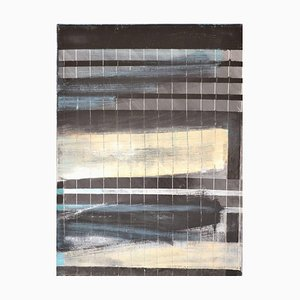Broken Grid: Mixed Media Contemporary Painting by Peter Rossiter, 2015