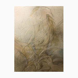 Liberation, Contemporary Figurative Watercolour, 2000s
