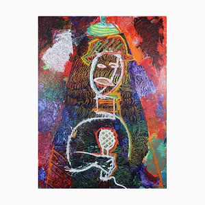 The Jazz Singer, Contemporary Large Neo-Expressionist Oil Painting, 2021