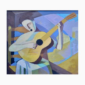 Ernst Neuschul, The Singing Lute Player, Singing Lutenist, 1963