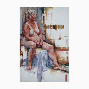 Heat Wave, Contemporary Nude Oil Painting