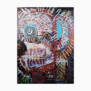 Mortalità, pittura ad olio neo-espressionista contemporanea, 2020