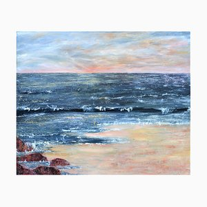 Penny Rumble, All Good Days Come to a End, A Contemporary Seascape, Huile sur Toile, 2019
