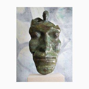 Reflected Self, Contemporary Cast Bronze Sculpture, 2020
