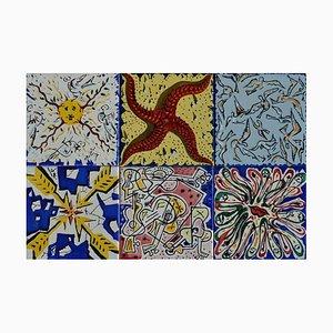 La Suite Catalane Kacheln von Salvador Dali, 1954, 6er Set