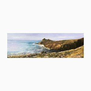 The Gurnards Head, Peinture à l'Huile de Paysage Contemporain, 2020