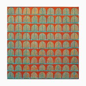 Brunnen von Marrakesch, zeitgenössisches abstraktes englisches Ölgemälde