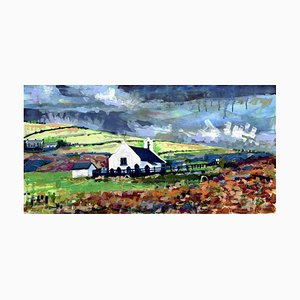 Eglwys y Grog, Mwnt: Contemporary Landscape Ölgemälde, 2017, Großbritannien
