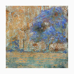 Behind the Sky: Contemporary Encaustic Wax Abstract Painting, 2020