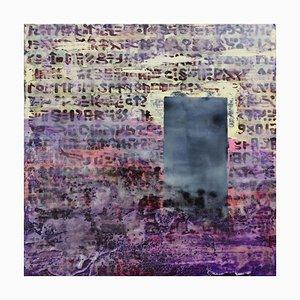 Menhir, Contemporary Encaustic Wax Painting, 2020