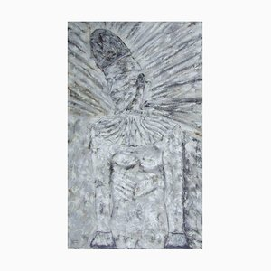 Pierrot Illuminated, Contemporary Figurative Gemälde, 1991