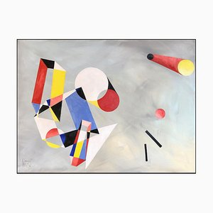 Geometry III, Contemporary Abstract Oil Painting, 2019