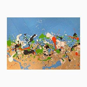 Break, Contemporary Mixed Media Abstract Painting, 2019