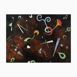 Vista II, pintura abstracta contemporánea, 2019