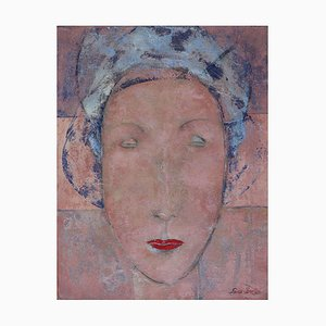 Lady, pittura ad olio figurativa contemporanea, 2010