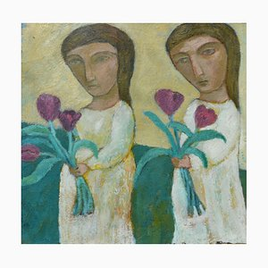 Two Girls, Contemporary Figurative Painting, 2018