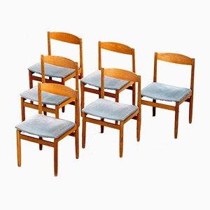 Skandinavische Vintage Stühle, 6er Set