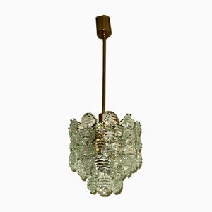 Brass & Faceted Glass Chandelier from Kinkeldey, 1960s