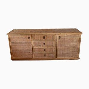 Vintage Bast und Sideboard aus Bambus von Dal Vera