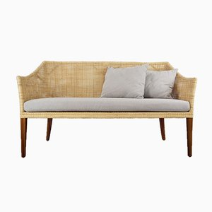 Handcrafted Braided Rattan & Wooden Sofa