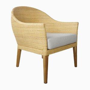Vintage Stühle aus Rattan & Holz, 2er Set
